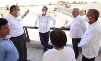 Se compromete López Obrador a culminar  la obra del Dren Bacurimí