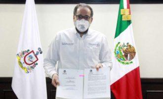 El gobernador de Colima busca hacer obligatorio el uso de cubrebocas